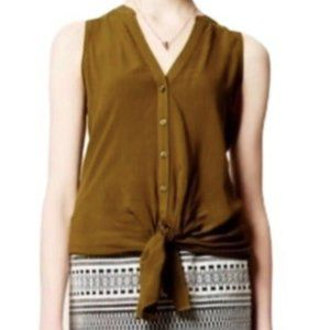 Anthropologie I Maeve Olive Green Button Down S